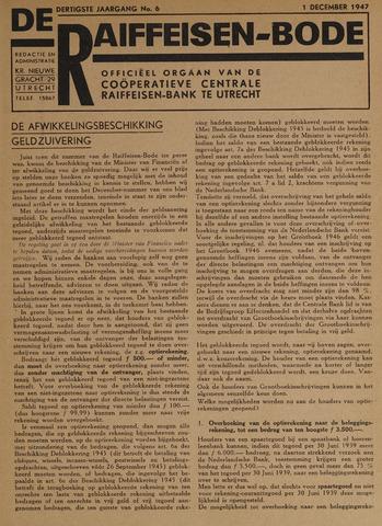 blad 'De Raiffeisen-bode' (CCRB) 1947-12-01