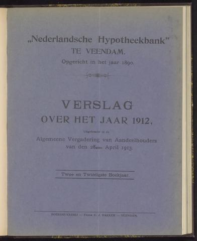 Jaarverslagen Nederlandsche Hypotheekbank 1912