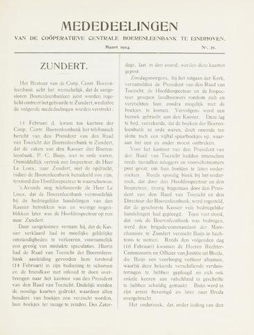 blad 'Mededeelingen' (CCB) 1914-03-01