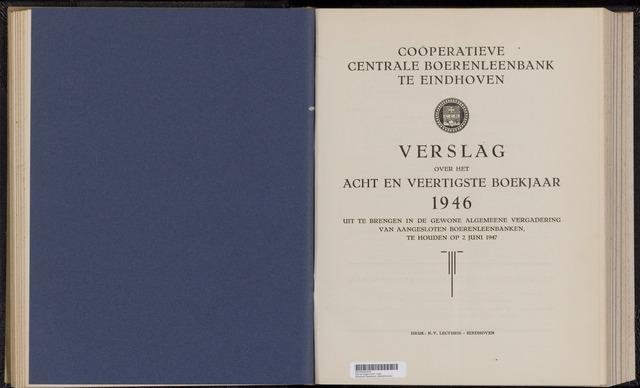 Jaarverslagen Coöperatieve Centrale Boerenleenbank 1946-12-31