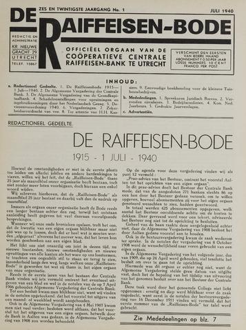 blad 'De Raiffeisen-bode' (CCRB) 1940-07-01