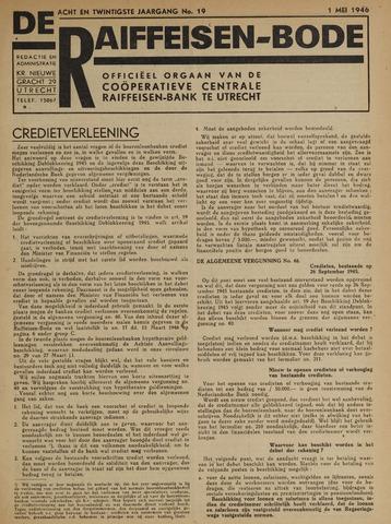blad 'De Raiffeisen-bode' (CCRB) 1946-05-01