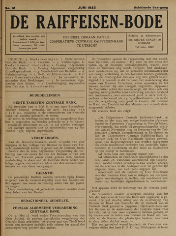 blad 'De Raiffeisen-bode' (CCRB) 1933-06-01