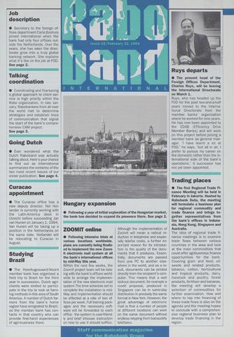 blad 'Raboband International' (EN) 1993-02-22