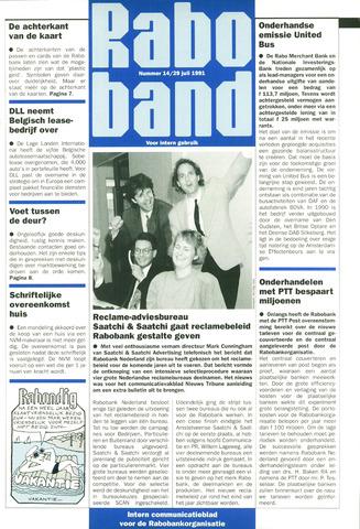 blad 'Raboband' 1991-07-29
