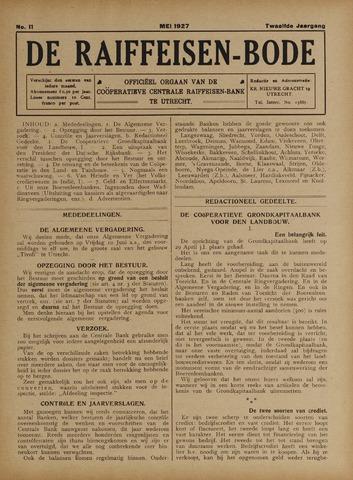 blad 'De Raiffeisen-bode' (CCRB) 1927-05-01