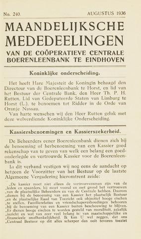 blad 'Maandelijkse Mededelingen' (CCB) 1936-08-01