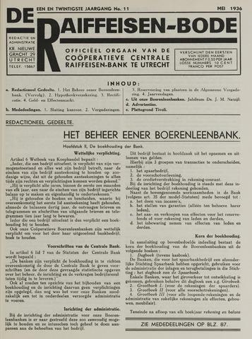 blad 'De Raiffeisen-bode' (CCRB) 1936-05-01
