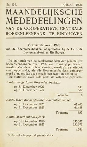 blad 'Maandelijkse Mededelingen' (CCB) 1928