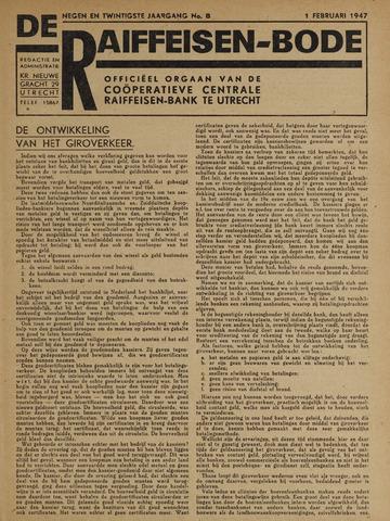 blad 'De Raiffeisen-bode' (CCRB) 1947-02-01