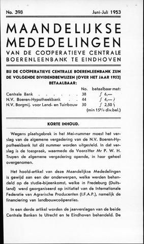 blad 'Maandelijkse Mededelingen' (CCB) 1953-06-01