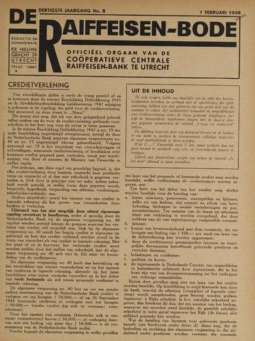 blad 'De Raiffeisen-bode' (CCRB) 1948-02-01