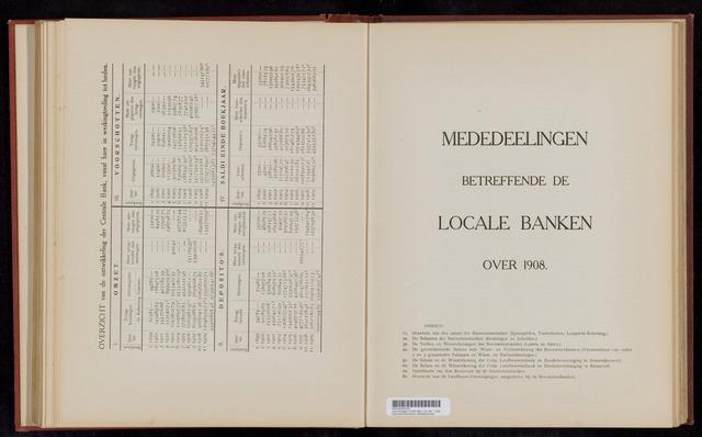 Mededelingen lokale banken CCRB 1908-12-31