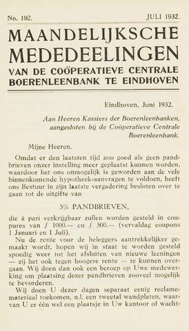 blad 'Maandelijkse Mededelingen' (CCB) 1932-07-01