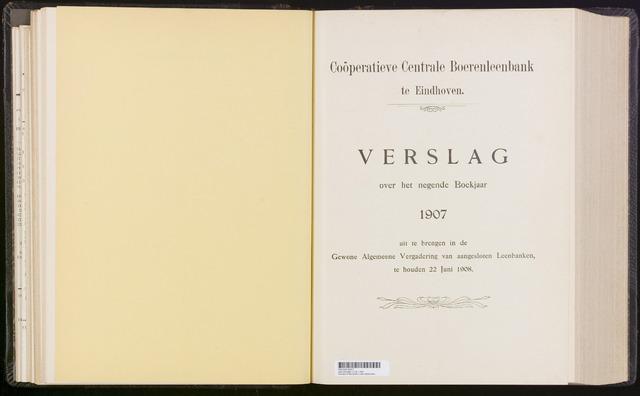 Jaarverslagen Coöperatieve Centrale Boerenleenbank 1907-12-31