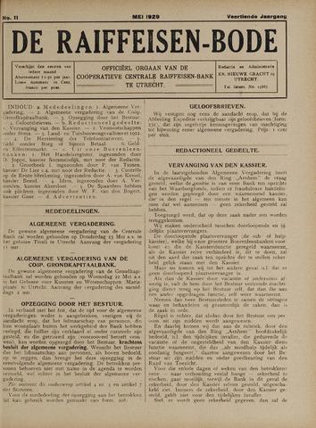 blad 'De Raiffeisen-bode' (CCRB) 1929-05-01