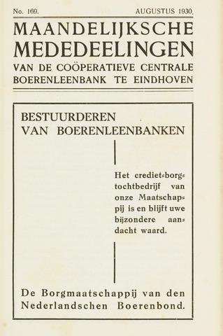 blad 'Maandelijkse Mededelingen' (CCB) 1930-08-01