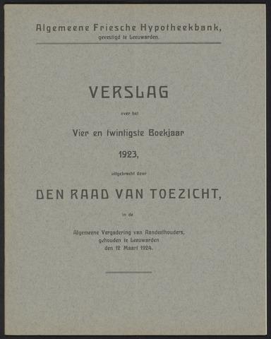 Jaarverslagen Algemeene Friesche Hypotheekbank 1923