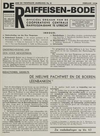 blad 'De Raiffeisen-bode' (CCRB) 1938-02-01