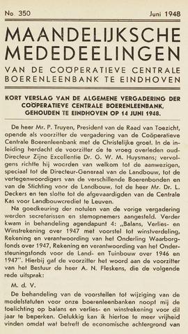 blad 'Maandelijkse Mededelingen' (CCB) 1948-06-01
