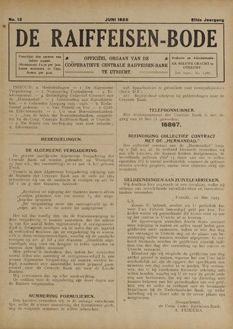 blad 'De Raiffeisen-bode' (CCRB) 1926-06-01