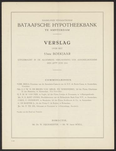 Jaarverslagen Bataafsche Hypotheekbank 1942