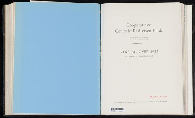 Jaarverslagen Coöperatieve Centrale Raiffeisen-Bank 1955