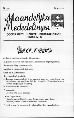 blad 'Maandelijkse Mededelingen' (CCB) 1959-07-01