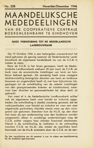 blad 'Maandelijkse Mededelingen' (CCB) 1946-11-01