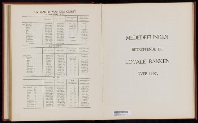 Mededelingen lokale banken CCRB 1907-12-31