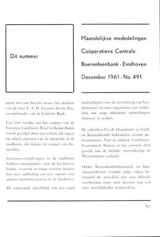 blad 'Maandelijkse Mededelingen' (CCB) 1961-12-01