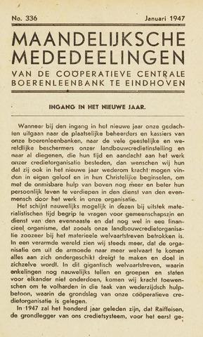 blad 'Maandelijkse Mededelingen' (CCB) 1947