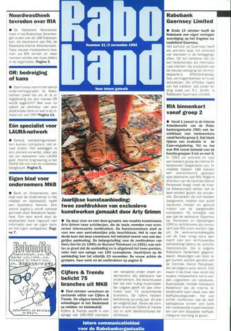 blad 'Raboband' 1992-11-02