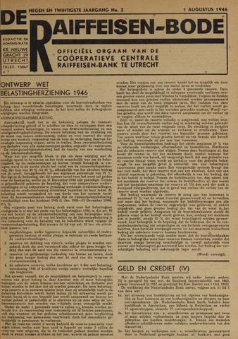 blad 'De Raiffeisen-bode' (CCRB) 1946-08-01