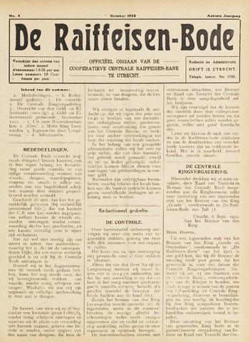 blad 'De Raiffeisen-bode' (CCRB) 1922-10-01