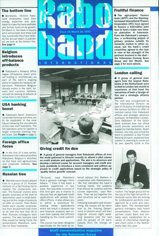 blad 'Raboband International' (EN) 1993-03-22