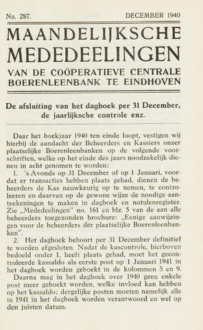 blad 'Maandelijkse Mededelingen' (CCB) 1940-12-01