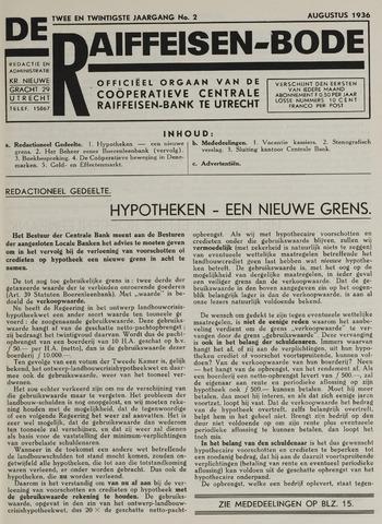 blad 'De Raiffeisen-bode' (CCRB) 1936-08-01