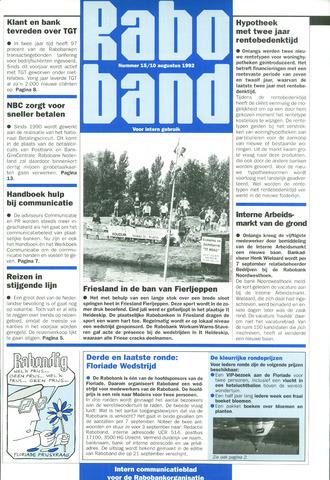 blad 'Raboband' 1992-08-10