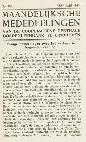 blad 'Maandelijkse Mededelingen' (CCB) 1942-02-01
