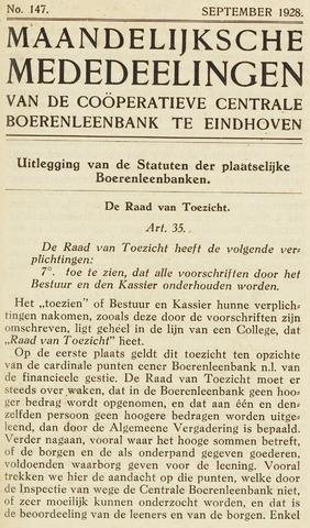 blad 'Maandelijkse Mededelingen' (CCB) 1928-09-01