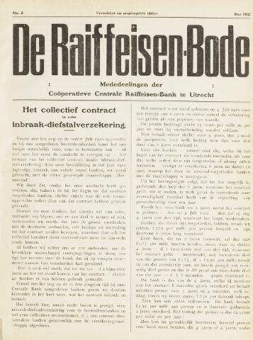 blad 'De Raiffeisen-bode' (CCRB) 1912-05-01