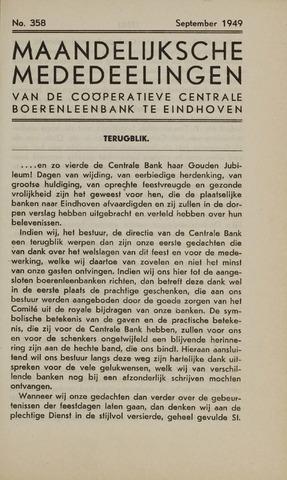 blad 'Maandelijkse Mededelingen' (CCB) 1949-09-01