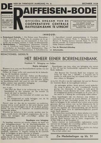 blad 'De Raiffeisen-bode' (CCRB) 1938-12-01