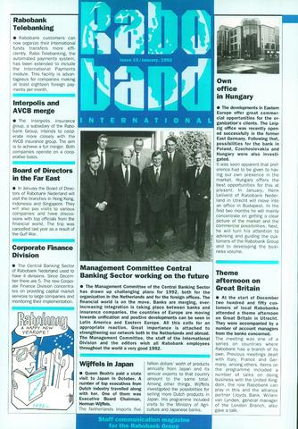 blad 'Raboband International' (EN) 1992-01-13