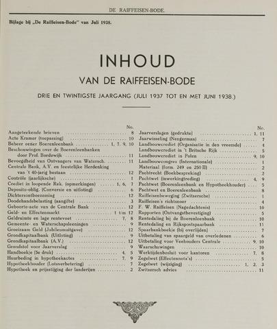 blad 'De Raiffeisen-bode' (CCRB) 1938-07-01