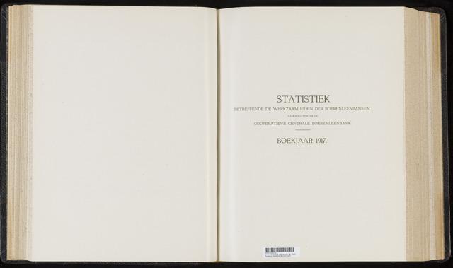 Statistiek aangesloten banken CCB 1917