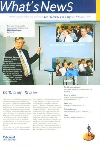 blad 'What's news' (EN) 2000-11-01