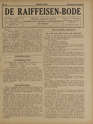 blad 'De Raiffeisen-bode' (CCRB) 1928-03-01