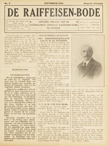 blad 'De Raiffeisen-bode' (CCRB) 1923-09-01